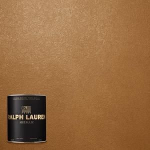 Ralph Lauren 1 Qt Burnished Copper Metallic Specialty Finish Interior Paint Me139 04 The Home Depot Interior Paint Room Paint Painted Ceiling