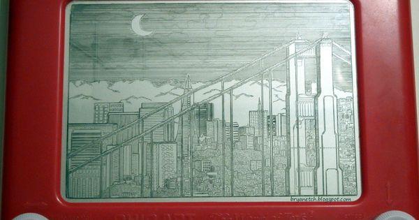Amazing Etch A Sketch Art