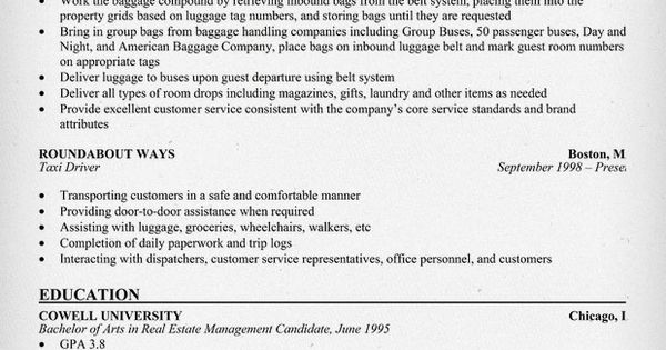 free baggage handler resume  resumecompanion com