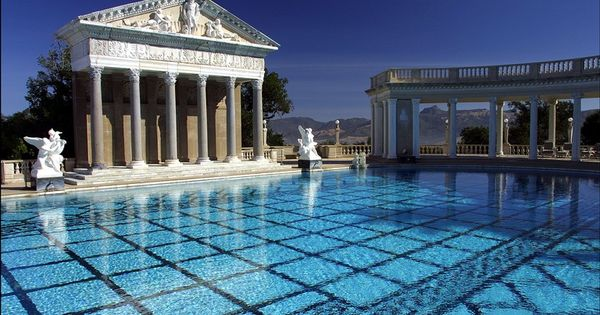 Beautiful neptune pool at hearst castle in san simeon ca - Hearst castle neptune pool swim auction ...