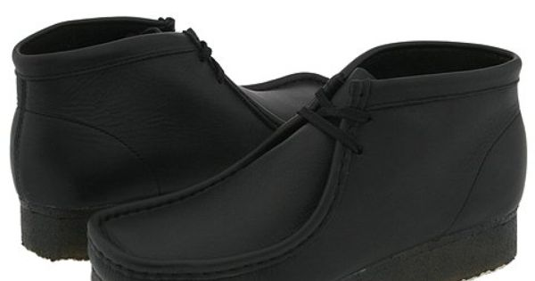 Clarks Wallabee Boot Black Leather