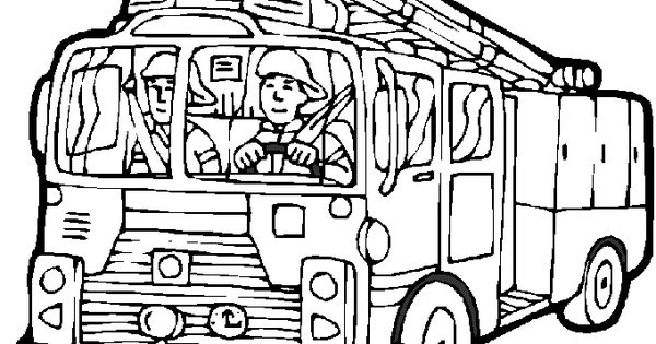 fireman and policeman coloring pages - photo#46