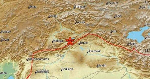 زلزال بقوة 6 9 درجات شرق تركيا شعر به السكان في معظم الأراضي السورية Map Pics Blog Posts