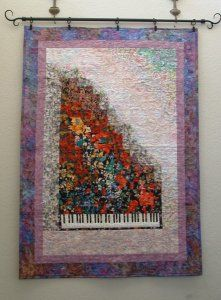 Watercolor Piano Quilt Flower Quilts Book Quilt