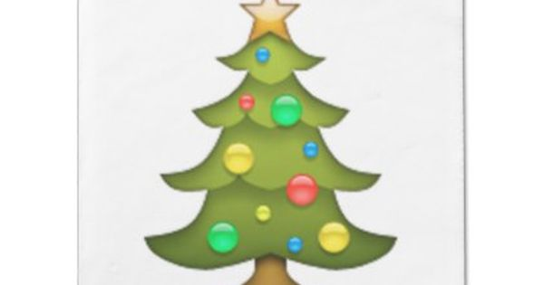 Christmas Tree Emoji Napkin Xmas Christmaseve Christmas Eve Christmas Merry Xmas Family Holy Ki Tree Emoji Christmas Wall Decal Christmas Wall Art