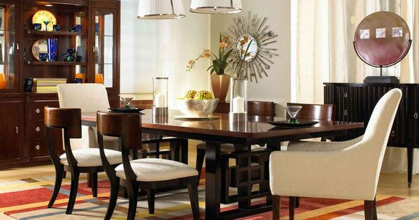 Impressive Dining Room Design With Wooden Dining Table And Chairs Also