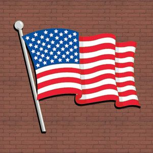 Waving American Flag Diy Woodcraft Pattern 2360 Show Your Colors Hang It Proudly On Your House Barn Or On Any Wall American Flag Diy Pattern Art Yard Art