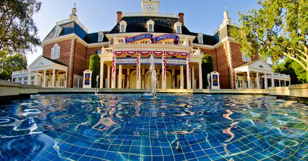 Another sunny day in the American Adventure. Epcot
