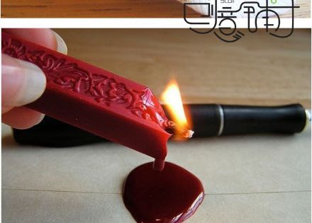 DIY wax stamp. I have SUCH a fascination w sealing wax... (also
