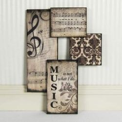 Living Room Decorating Ideas On A Budget Music This Would Be Cute In That Music Wall Decor Music Room Decor Music Decor
