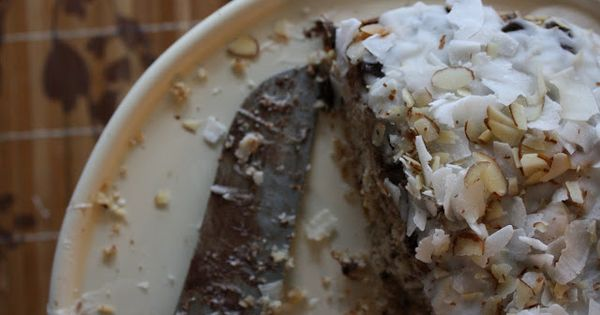 coconut cake with chocolate chunks and coconut drizzle | Desserts and ...