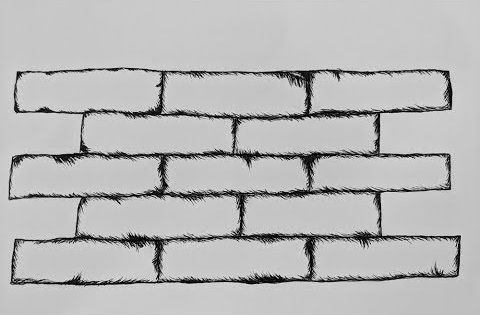 1 How To Draw Bricks Easy Youtube Draw Bricks Brick Wall Drawing Brick Wall