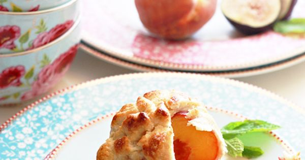 Easy Whole Peach Pies with no refined sugar, just a dollop of