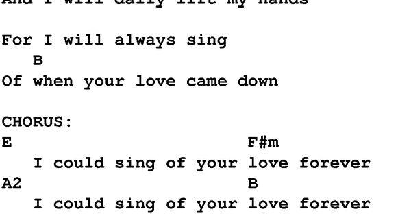 one thing remains chords pdf e