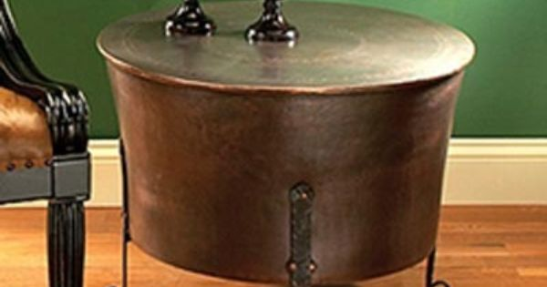 Jatex copper 24 round cauldron end table jatex for Decor products international
