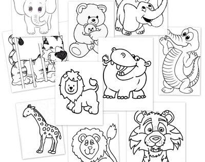 Animales de la selva para colorear animales de la selva for Cuarto para colorear