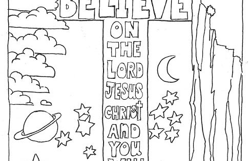Coloring Pages For Kids By Mr Adron Believe On The Lord