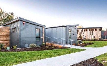 62 Ideas Exterior Office Building Sheds For 2019 Prefab Cabins Wood Siding Exterior Exterior House Materials