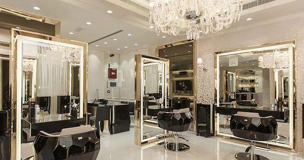 Laloge Uae Jose Eber Salon In Dubai Gives Off A Sophisticated And Refined Atmosphere Salon Interior Design Salon Suites Decor Hair Salon Interior