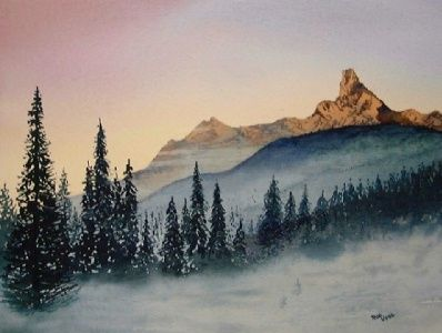 Wonderful Tutorial Painting A Mountain Landscape Watercolor