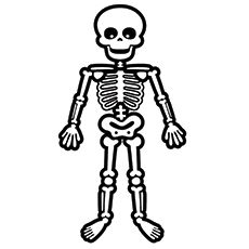 Printable Skeleton Coloring Pages For Kids Skeleton For Kids Halloween Coloring Pages Coloring Pages