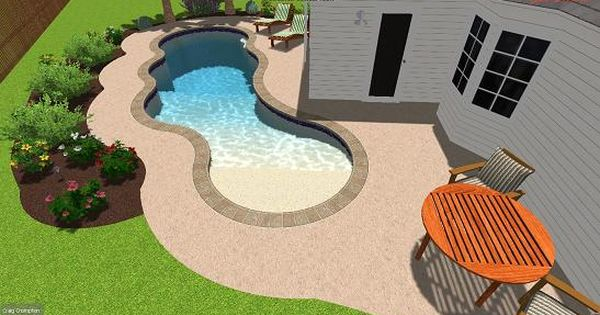 beach entry swimming pool design by aqua blue pools pools pinterest swimming backyards and beaches - Beach Entry Swimming Pool Designs