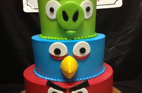 Angry birds cake of course I could do this for the next