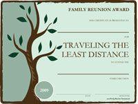 Free Printable Awards For The Family Reunion Family Reunion