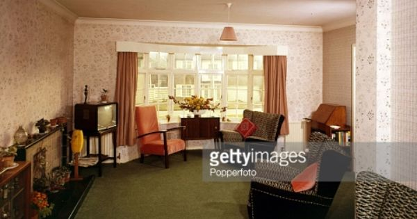 1964 A Living Room Furnished In Typical Mid 1960 S Style Room