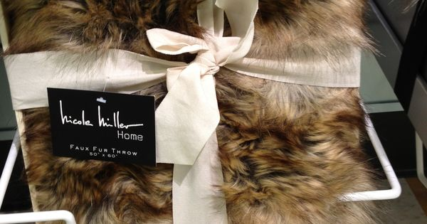 Nicole Miller Faux Fur Throw Blanket Blanky Pinterest