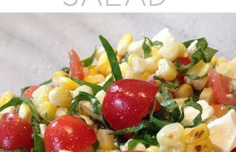 Grilled Corn, Basil & Tomato Salad | Recipe | Picnics ...