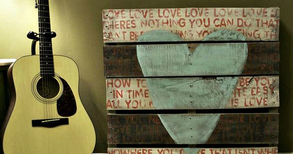 Rustic Wedding Decoration - Custom Wood Sign - Pallet Art - All