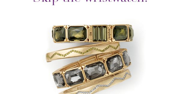 "LOVE! lia sophia jewelry — ""Versailles"" and ""Bolt"" stacked bangles"