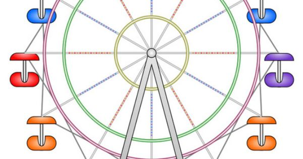 coloring pages of ferris wheel - photo #49