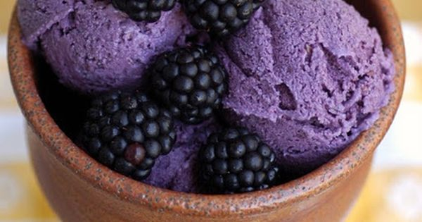 Creamy Blackberry Frozen Yogurt | Kitchen Corners - need an icecream maker!