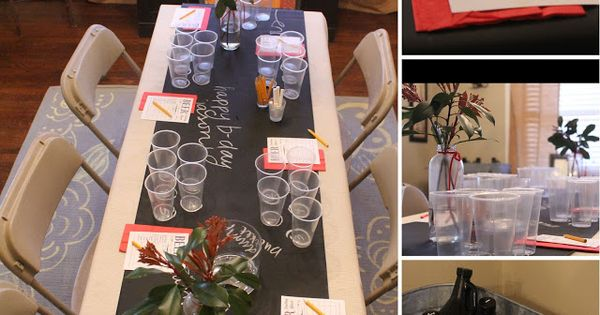 Beer Tasting Party--use chalkboard spray paint and cheap cloth for a chalkboard