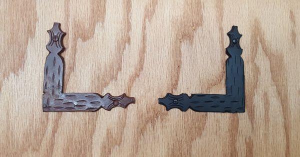 3 5 Decorative L Corner Bracket Spear Brackets Right Etsy Rustic Hardware Rustic Iron Hardware Decorative Iron Hardware