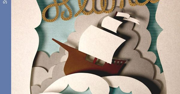Paper Sculpture - Book Cover