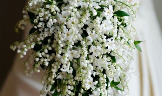 Lily Of The Valley Wedding Bouquet: Lily Of The Valleys + Baby's Breath Bouquet