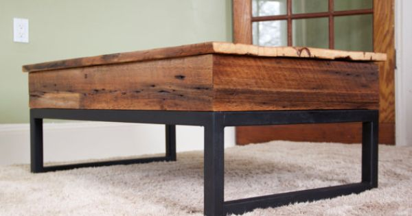 Reclaimed Barn Board Lift Top Coffee Table Wood Metal Via Etsy Diy Home Deco Pinterest