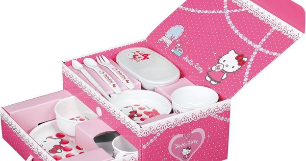 Hello Kitty Baby Gift Sets : Hello kitty baby tableware gift set cup bowl mug dish ware