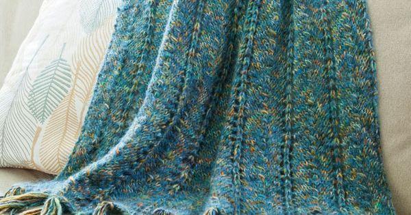 Knitting Afghan Patterns Pinterest : Kachess Afghan ~ Free Knitting Pattern from Berroco ...
