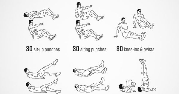 boxer abs workout - concentration