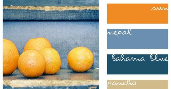 Blue and orange color inspiration
