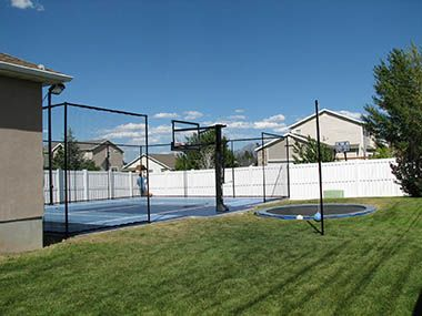 View Tons Of Outdoor Courts And Indoor Courts Designed And Built By Sport Court Get Great Ides Righ Outdoor Basketball Court Home Basketball Court Sport Court