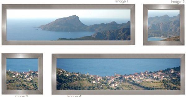 Double panoramique de cadres simples couleur titane exemple de photos panoramiques for Cadre photo panoramique