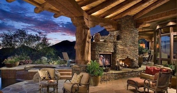 Rustic Patio Texas Hill Country Home Pinterest