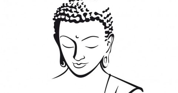 Sticker t te de bouddha dessin pinterest stickers - Coloriage bouddha ...