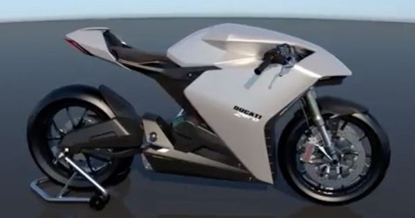 Ducati Amps Up Electric Bike Race Futuristic Motorcycle
