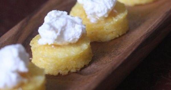 Crispy Polenta Bites With Ricotta And Truffle Honey Recipe ...
